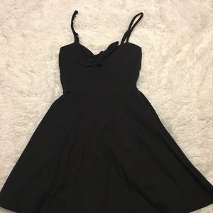 Cute black summer dress.